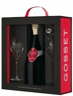 Coffret Gossetgrande Réserve Brut Avec 2 Flûtes et Un Bouchon Conservateur  Gosset, Champagne