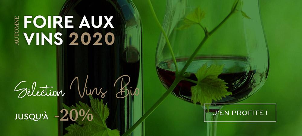 Foire aux Vins MILLESIMES Automne 2020 Vins Bio