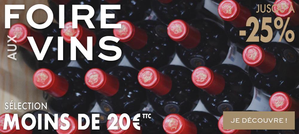 Foire aux Vins Automne 2018 MILLESIMES Selection moins de 20e